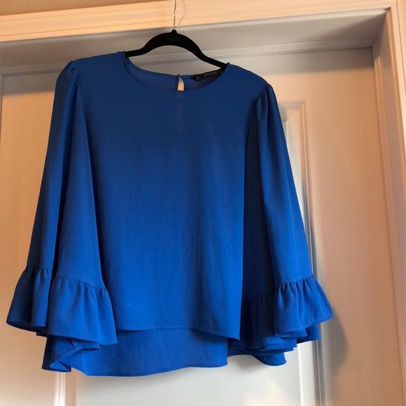 53c5dbf0f9be54 Blue Zara Blouse Bell sleeves. M_5ac1534c3a112eb274b664e9